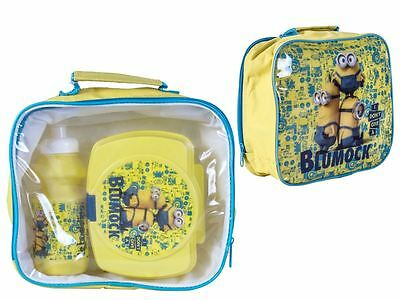 Despicable Me Minions Filled Insulated School Kids Lunch Bag Bottle Sandwich Box