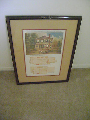 Supplement to the Scientific American-Architects & Builders Edition Framed 1886