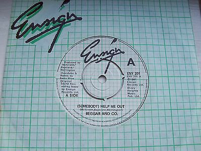 Beggar And Co. (Somebody) Help Me Out / Rising Sun. Rare 1981 Ensign Single