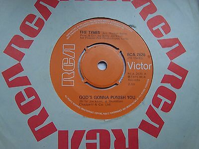 The Tymes, God's Gonna Punish You / If I Can't Make You Smile. 1975 Rca Single