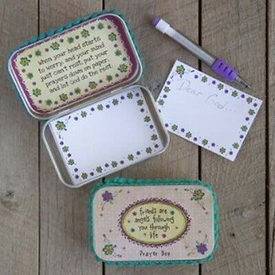 Natural Life Prayer Box Friend Angels Notepad Faith Religious Inspirational Gift