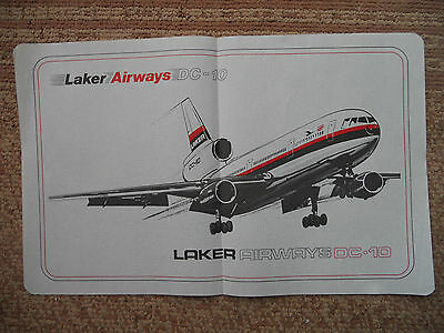 Laker Airways DC-10 Inflight Catering Paper Tray Mat