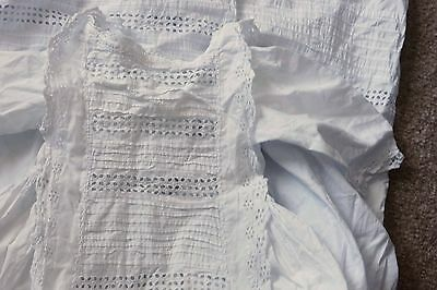 Victorian/Edwardian Cotton Child's Dress, Broiderie Angloise Lace