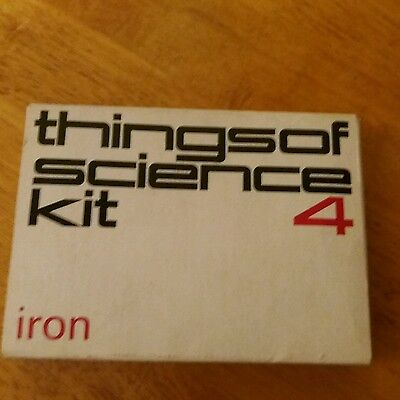 Vintage  1960's Experiment Cambridge Things Of Science Kit Number 4 Iron