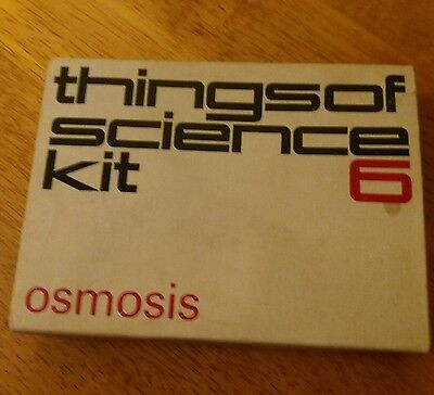 VINTAGE  1960'S experiment CAMBRIDGE THINGS OF SCIENCE KIT NUMBER 6 OSMOSIS