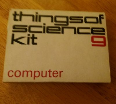 VINTAGE  1960'S experiment  CAMBRIDGE THINGS OF SCIENCE KIT NUMBER 9 COMPUTER