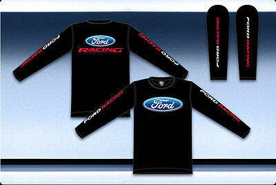 Ford Racing Mens Long Sleeve Black Shirt Officially Licensed Ford Product