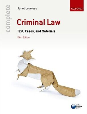 Complete Criminal Law: Text, Cases, and Materials (Paperback), LO. 9780198753292
