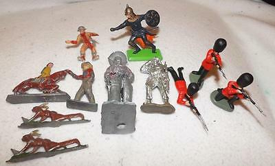 Assortment Of Lead Cowboys,indians And Some Britain Plastic Soldiers