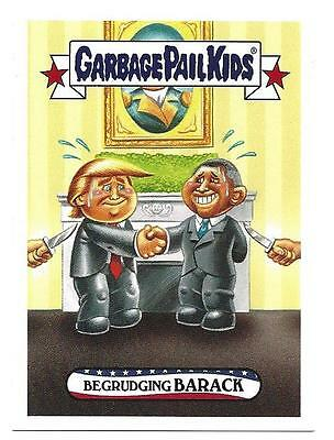 Garbage Pail Kids Topps 2016 Disgrace To The  White House #.67 Begrudging Barack