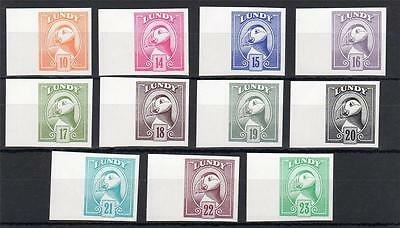 Lundy: 1982 Definitives Set Unmounted Mint Imperforate