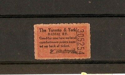 for auction, 1  vintage PRE  TTC ticket prior to 1921 signed W.Mackenzie.(2)