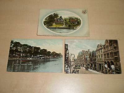 1909 Three Postcards Of Chester