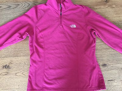 north face pink fleece zip up Large