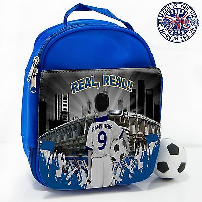 Personalised REAL MADRID New Unoffical Football Lunch Bag Insulated Cool Box