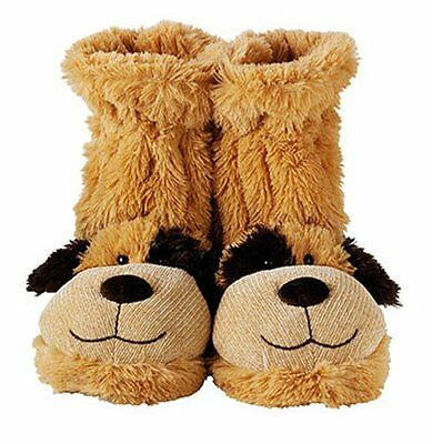 Aroma Home FUN FOR FEET SLIPPERS SOCKS Boots UK Size 4-7 - BROWN DOG