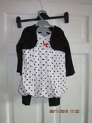 Girls Age 12-18 Months Dress And Leggings