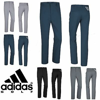 "ADIDAS PUREMOTION® 3 STRIPE MENS PERFORMANCE GOLF TROUSERS / PANTS ""New 2017"""