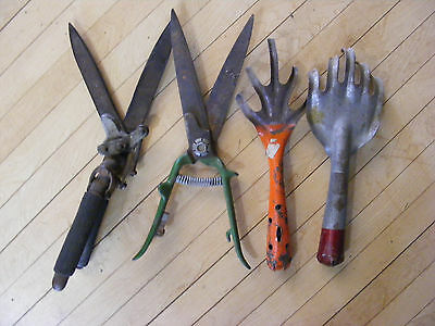 "Lot Vintage GARDEN Claws SHEARS SNIPS CLIPPERS SCISSORS, 13"" Length"