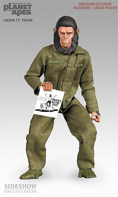 "Sideshow Toys Planet of the Apes 12"" Figure Caesar New in the Box 2004"
