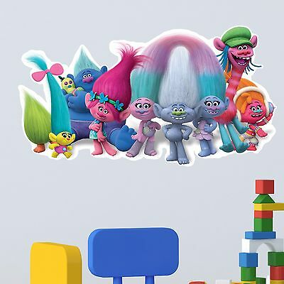 Trolls Wall Decal Kids Boy Girls Bedroom Nursery Vinyl Sticker Gift Xmas