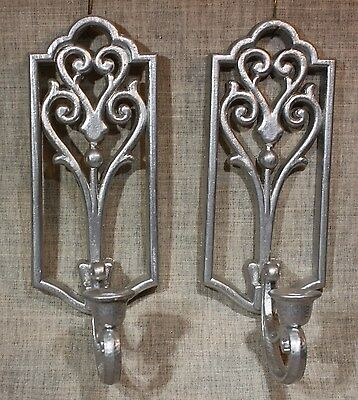 """HOMCO/Home Interiors """"Hollywood Regency"""" Wall Sconces/Candleholders 1982"""
