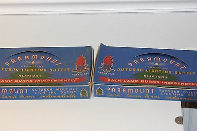 Vintage Christmas Paramount Outdoor String Lights Empty Boxes Only Lot Of 2