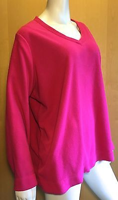 Women's PLUS 3X MADE FOR LIFE soft pink v-neck casual top
