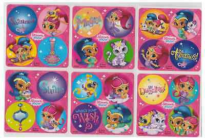 """80 Shimmer and Shine Mini Stickers, 1.2"""" Round Each, Party Favors"""