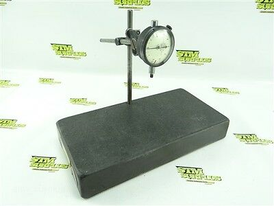 """Federal C21 Precision Dial Indicator .0001"""" + Granite Inspection Stand 2""""x6""""x12"""""""