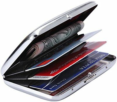 Latest Stainless Steel Rfid Blocking Credit Card Holder for Men & Women - New