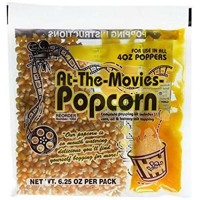 At-The-Movies Popcorn & Coconut Oil Portion Packs-Case of 24 (4oz Kettle) New