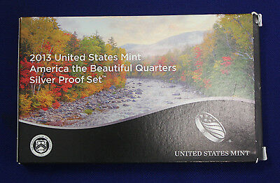 2013-s SILVER. U.S. Mint made America the Beautiful  QUARTERS  proof Set