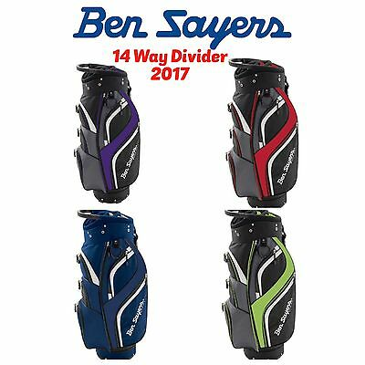 """new 2016"" Ben Sayers Deluxe Cart Trolley Bag 14 Way Divider Golf Trolley Bag"