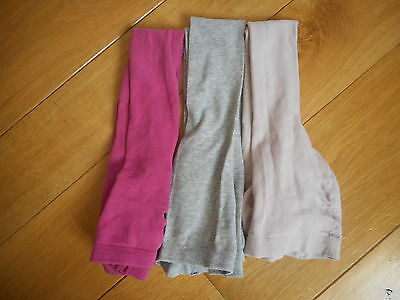 Girls bundle of 3 Cotton Blend Tights by Verbaudet size 12.5/2