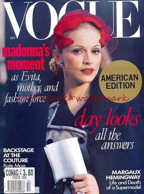 MADONNA on Cover & Within USA VOGUE Magazine, October 1996