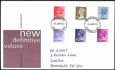 Fdc - G.b. 1981 New Definitive Values - First Day Cover