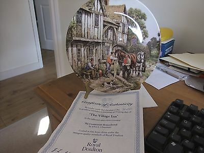 Royal Doulton Collectors Plate The Village Inn By John Chapman Limited Edition