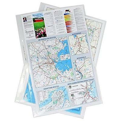 11x17 17 x 11 Inches Poly Sheet Protectors Archivable, Pack of 25, Diamond Clear