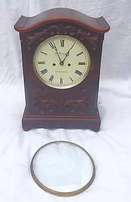 Antique Mahogany Double Fusee Bracket Clock By James Briscall Birmingham