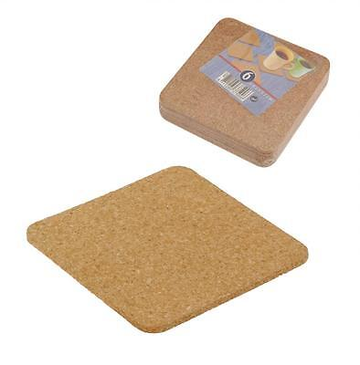 Set of 6 Square Cork Coaster Coasters for Drinks Protecting Table
