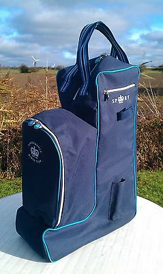 SHIRES Performance Riding Team - Padded Long Riding Boots, Whip & Helmet Bag