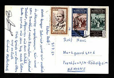 14138-SPANISH MOROCCO-SPAIN-POSTCARD TETUAN to GERMANY.1957.Marruecos ESPAÑOL