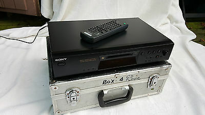 "Sony Mini Disc Player Model MDS-JE480 Black - ""auto-pause"" remote Fully Working"