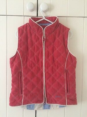 Joules Girls Quilted Body Warmer Gilet Age 4 Years