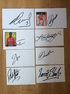 Collection Of 8 Middlesbrough Fc Hand Signed Autographs Index Cards