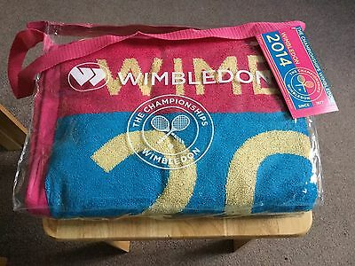 WIMBLEDON Official  Ladies Championship Towel, 2014 Edition By Christy BNWT