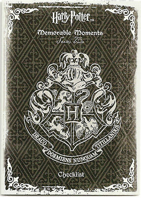 Harry Potter Memorable Moments Series 2: 72-Card Base Set