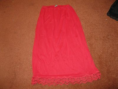 Vintage Red Underskirt by Naomi, Made in England. Elasticated Size 36.