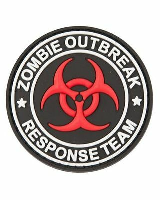 "Military Morale 3D Rubber / PVC Patch ""ZOMBIE OUTBREAK RESPONSE TEAM"" Velcro"
